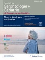 Zeitschrift für Gerontologie und Geriatrie 5/2015