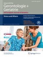 Zeitschrift für Gerontologie und Geriatrie 6/2015