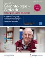 Zeitschrift für Gerontologie und Geriatrie 5/2017