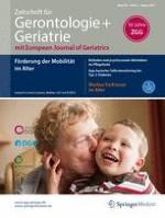Zeitschrift für Gerontologie und Geriatrie 6/2017