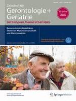 Zeitschrift für Gerontologie und Geriatrie 7/2017