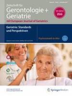 Zeitschrift für Gerontologie und Geriatrie 8/2017