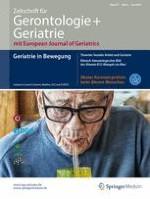 Zeitschrift für Gerontologie und Geriatrie 4/2018