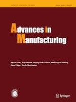 Advances in Manufacturing 1/2020