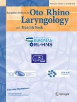 European Archives of Oto-Rhino-Laryngology 12/2016