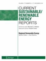 Current Sustainable/Renewable Energy Reports 3-4/2016