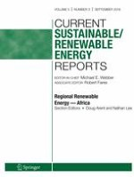 Current Sustainable/Renewable Energy Reports 3/2018