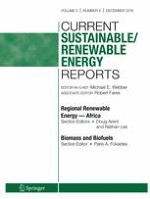 Current Sustainable/Renewable Energy Reports 4/2018