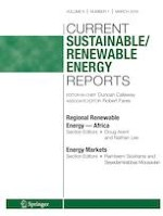 Current Sustainable/Renewable Energy Reports 1/2019