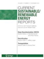 Current Sustainable/Renewable Energy Reports 4/2019