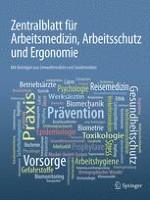 Zentralblatt für Arbeitsmedizin, Arbeitsschutz und Ergonomie 1/2012