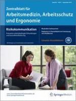 Zentralblatt für Arbeitsmedizin, Arbeitsschutz und Ergonomie 5/2014