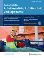 Zentralblatt für Arbeitsmedizin, Arbeitsschutz und Ergonomie 3/2016