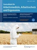 Zentralblatt für Arbeitsmedizin, Arbeitsschutz und Ergonomie 4/2016
