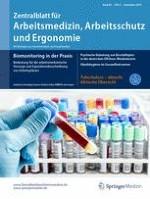 Zentralblatt für Arbeitsmedizin, Arbeitsschutz und Ergonomie 5/2016