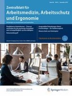 Zentralblatt für Arbeitsmedizin, Arbeitsschutz und Ergonomie 6/2016