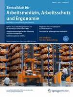 Zentralblatt für Arbeitsmedizin, Arbeitsschutz und Ergonomie 1/2017