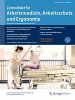 Zentralblatt für Arbeitsmedizin, Arbeitsschutz und Ergonomie 2/2017