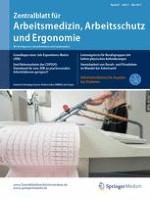 Zentralblatt für Arbeitsmedizin, Arbeitsschutz und Ergonomie 3/2017