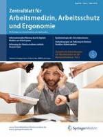 Zentralblatt für Arbeitsmedizin, Arbeitsschutz und Ergonomie 2/2018