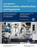 Zentralblatt für Arbeitsmedizin, Arbeitsschutz und Ergonomie 3/2018