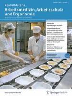 Zentralblatt für Arbeitsmedizin, Arbeitsschutz und Ergonomie 4/2018