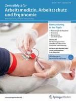 Zentralblatt für Arbeitsmedizin, Arbeitsschutz und Ergonomie 5/2018