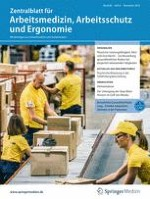 Zentralblatt für Arbeitsmedizin, Arbeitsschutz und Ergonomie 6/2018