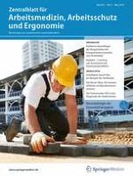 Zentralblatt für Arbeitsmedizin, Arbeitsschutz und Ergonomie 2/2019