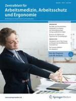 Zentralblatt für Arbeitsmedizin, Arbeitsschutz und Ergonomie 4/2019
