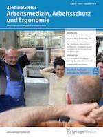 Zentralblatt für Arbeitsmedizin, Arbeitsschutz und Ergonomie 5/2019