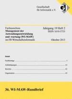 Rundbrief des Fachausschusses Management der Anwendungsentwicklung und -wartung (WI-MAW) 2/2012