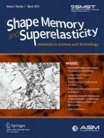 Shape Memory and Superelasticity 1/2015
