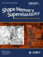 Shape Memory and Superelasticity 3/2015