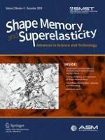 Shape Memory and Superelasticity 4/2016
