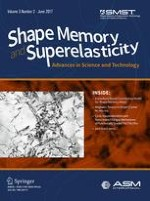 Shape Memory and Superelasticity 2/2017
