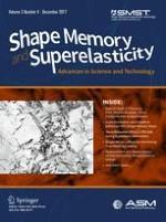 Shape Memory and Superelasticity 4/2017