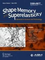 Shape Memory and Superelasticity 1/2018