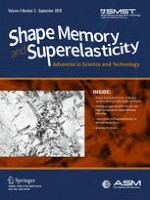 Shape Memory and Superelasticity 3/2018