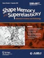 Shape Memory and Superelasticity 3/2019