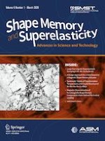 Shape Memory and Superelasticity 1/2020