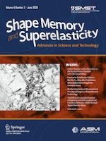 Shape Memory and Superelasticity 2/2020