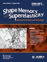 Shape Memory and Superelasticity 3/2020