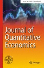 Journal of Quantitative Economics 2/2016