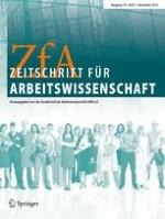 Zeitschrift für Arbeitswissenschaft 3/2016