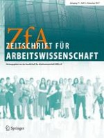 Zeitschrift für Arbeitswissenschaft 4/2017