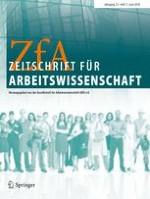 Zeitschrift für Arbeitswissenschaft 2/2018