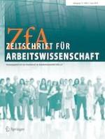 Zeitschrift für Arbeitswissenschaft 2/2019