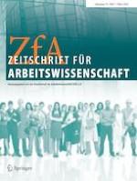 Zeitschrift für Arbeitswissenschaft 1/2020