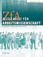 Zeitschrift für Arbeitswissenschaft 2/2020